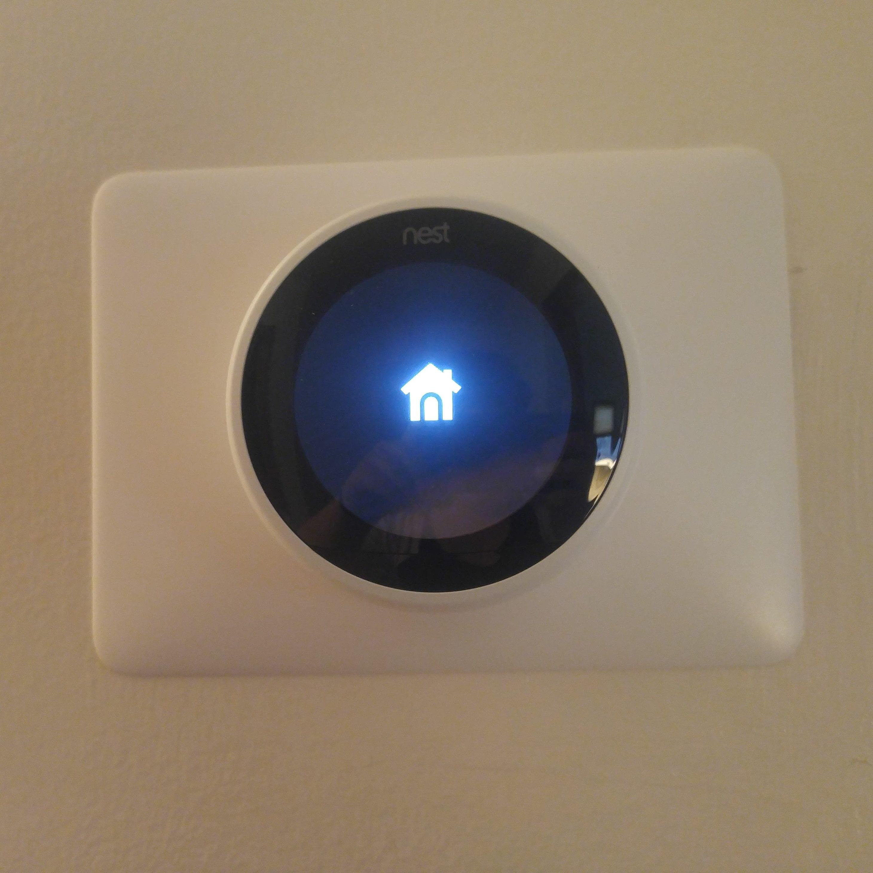 Photo: Photo of Nest Smart Thermostat turning on!