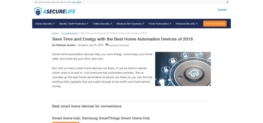 Review of Home Automation devices at ASecureLife.com