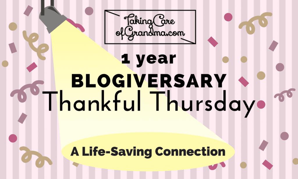 THANKFUL THURSDAY: A Life-Saving Connection