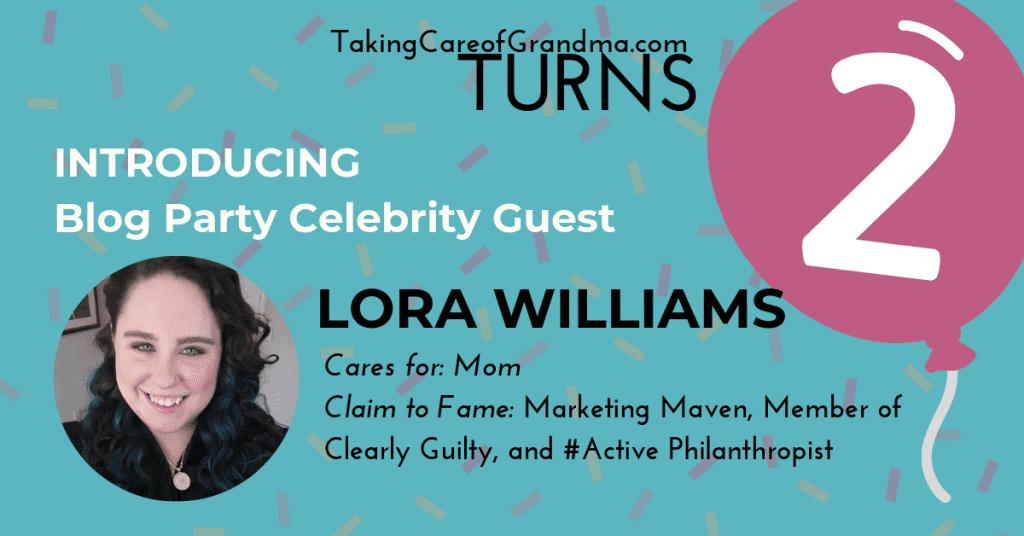 TCG blogiversary celebrity guest Lora Williams