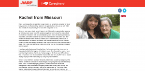 Screenshot: AARP I Heart Caregivers