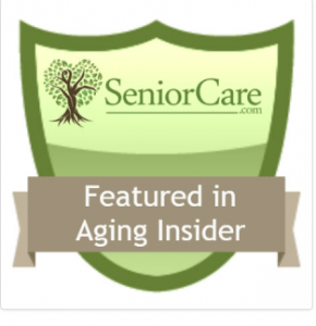 Badge: Featured in Aging Industry Insider | SeniorCare.com