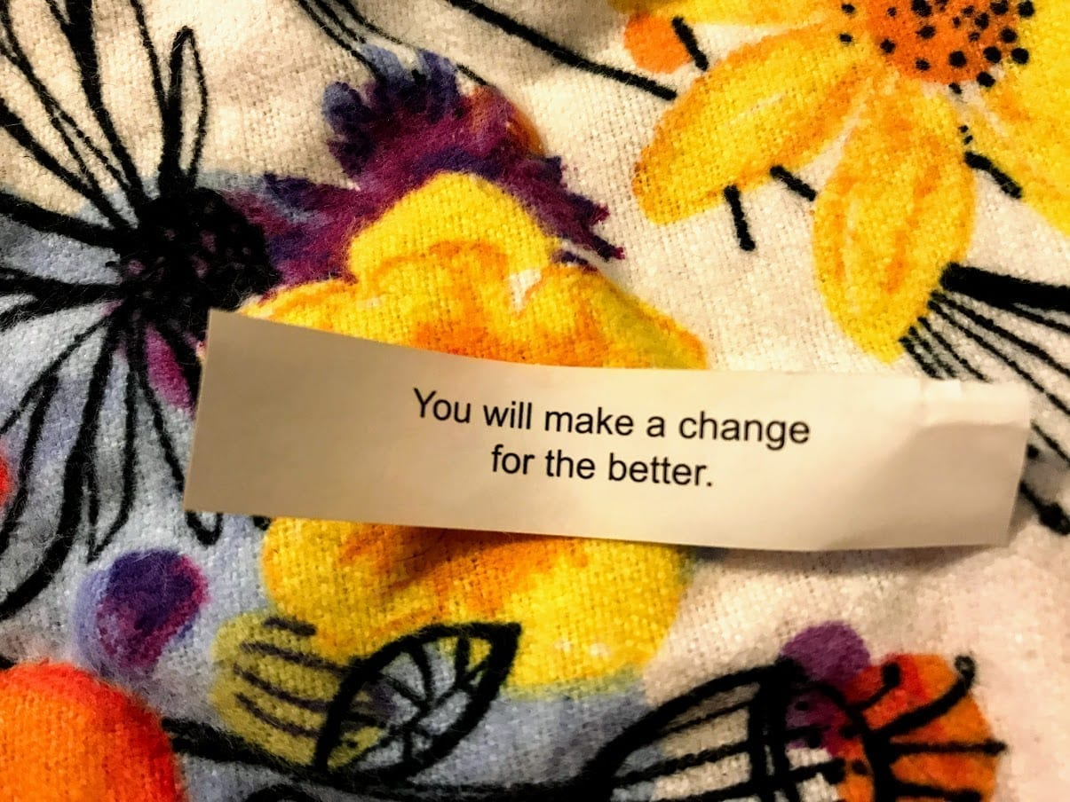 Photo: Fortune Cookie you Will Make a change for the better